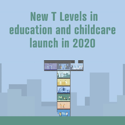 News Flash - New T Levels for 16 year olds starting 2020 news image