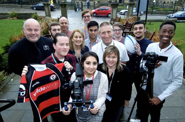 Media Students working with Baildon RUFC news image