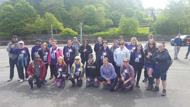 Group photo before setting off on the Llanberis Pass