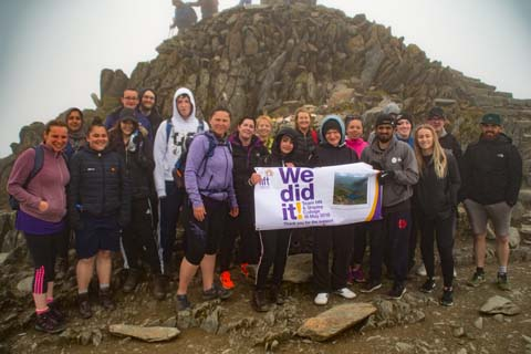 The group made it to the summit safely!