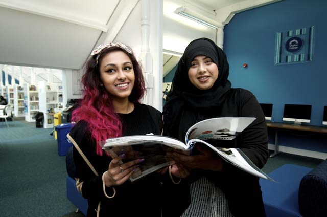 Students in the Learning Resource Centre
