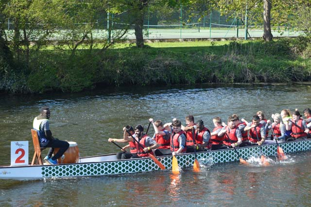 Shipley College students contribute to Saltaire's Dragonboat Festival