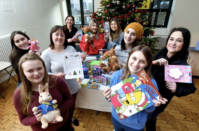 Yorkshire Children's Trust receiving donations